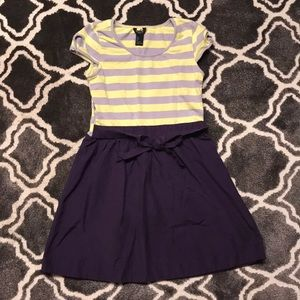Forever21 girls size S (7/8) yellow/purple dress